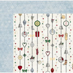 BoBunny - Tis The Season Collection - Christmas - 12 x 12 Double Sided Paper - Silver Bells