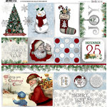 BoBunny - Tis The Season Collection - Christmas - 12 x 12 Vellum Paper with Foil Accents
