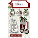 BoBunny - Tis The Season Collection - Christmas - Layered Chipboard Stickers