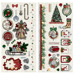 BoBunny - Tis The Season Collection - Christmas - Chipboard Stickers