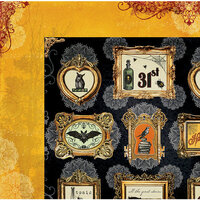 BoBunny - Wonderfully Wicked Collection - Halloween - 12 x 12 Double Sided Paper - Apothecary
