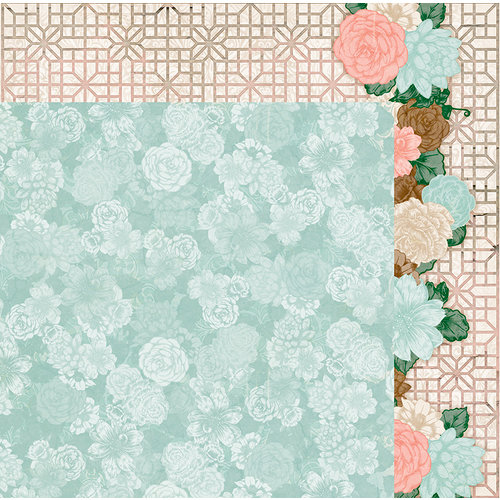BoBunny - Felicity Collection - 12 x 12 Double Sided Paper - Lattice