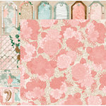 BoBunny - Felicity Collection - 12 x 12 Double Sided Paper - Trellis