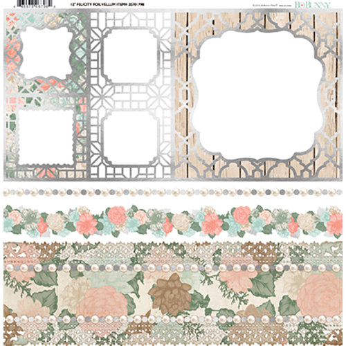 BoBunny - Felicity Collection - 12 x 12 Vellum Paper with Foil Accents