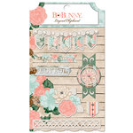 BoBunny - Felicity Collection - Layered Chipboard Stickers