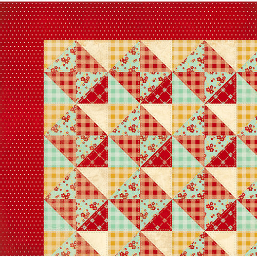 BoBunny - Kiss the Cook Collection - 12 x 12 Double Sided Paper - Quilt