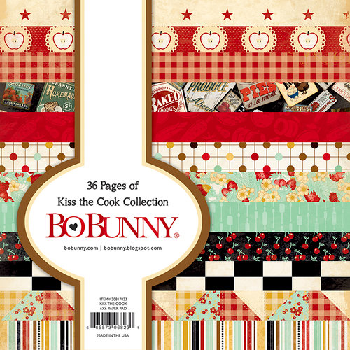 BoBunny - Kiss the Cook Collection - 6 x 6 Paper Pad