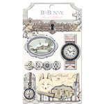 BoBunny - Winter Wishes Collection - Layered Chipboard Stickers