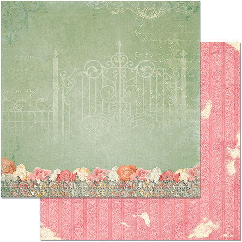 BoBunny - Aryia's Garden Collection - 12 x 12 Double Sided Paper - Iron