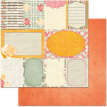 BoBunny - Aryia's Garden Collection - 12 x 12 Double Sided Paper - Notes