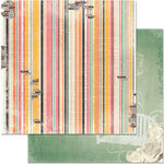 BoBunny - Aryia's Garden Collection - 12 x 12 Double Sided Paper - Stripe