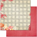 BoBunny - Aryia's Garden Collection - 12 x 12 Double Sided Paper - Trellis