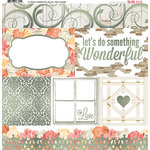 BoBunny - Aryia's Garden Collection - 12 x 12 Vellum Paper with Foil Accents