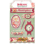 BoBunny - Aryia's Garden Collection - Layered Chipboard Stickers with Glitter Accents