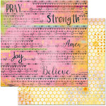 BoBunny - Faith Collection - 12 x 12 Double Sided Paper - Blessings