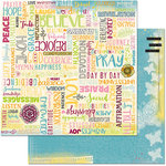 BoBunny - Faith Collection - 12 x 12 Double Sided Paper - Forever