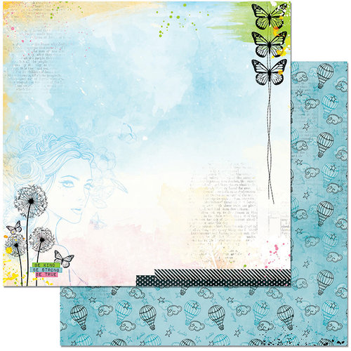 BoBunny - Faith Collection - 12 x 12 Double Sided Paper - Heaven Sent