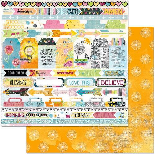 BoBunny - Faith Collection - 12 x 12 Double Sided Paper - Rejoice