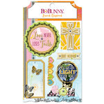 BoBunny - Faith Collection - Layered Chipboard Stickers with Glitter Accents