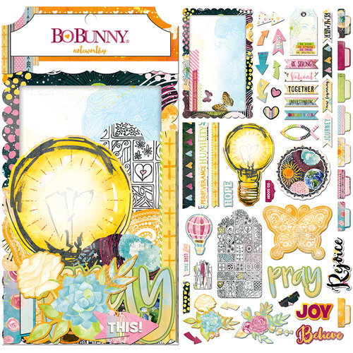 BoBunny - Faith Collection - Noteworthy Journaling Cards