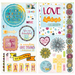 BoBunny - Faith Collection - Chipboard Stickers