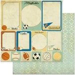 BoBunny - Game On Collection - 12 x 12 Double Sided Paper - Cards