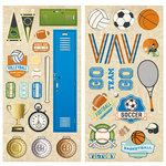BoBunny - Game On Collection - Chipboard Stickers