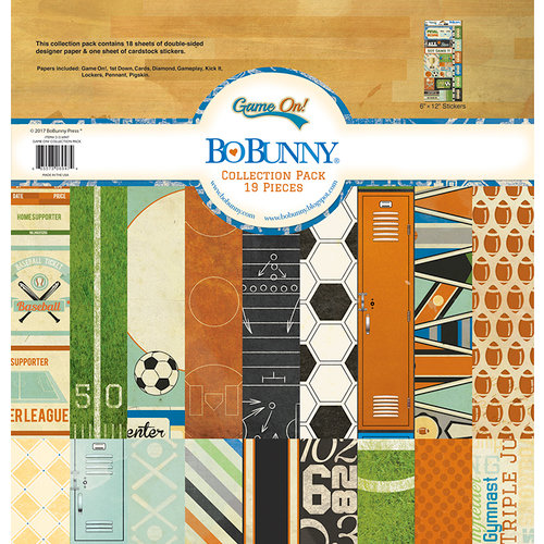 BoBunny - Game On Collection - 12 x 12 Collection Pack