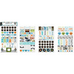 BoBunny - Life In Color Collection - Clear Stickers