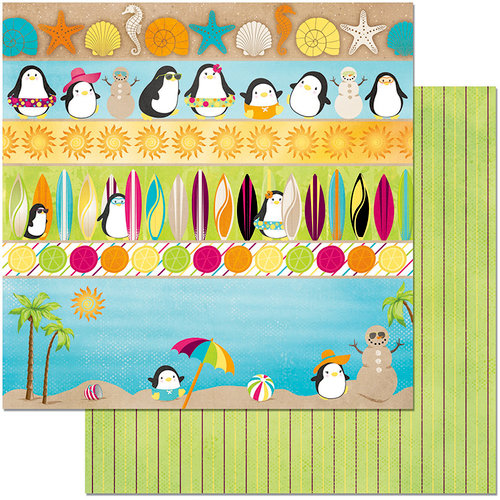 BoBunny - Make A Splash Collection - 12 x 12 Double Sided Paper - Make A Splash