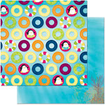 BoBunny - Make A Splash Collection - 12 x 12 Double Sided Paper - Floating