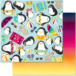 BoBunny - Make A Splash Collection - 12 x 12 Double Sided Paper - Lazy Days