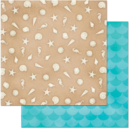 BoBunny - Make A Splash Collection - 12 x 12 Double Sided Paper - Sandcastle
