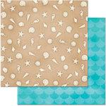 BoBunny - Make A Splash Collection - 12 x 12 Double Sided Paper - Sandcastle