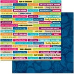 BoBunny - Make A Splash Collection - 12 x 12 Double Sided Paper - Sayings