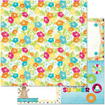 BoBunny - Make A Splash Collection - 12 x 12 Double Sided Paper - Smile