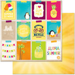 BoBunny - Make A Splash Collection - 12 x 12 Double Sided Paper - Vacation