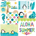 BoBunny - Make A Splash Collection - 12 x 12 Vellum Paper with Foil Accents