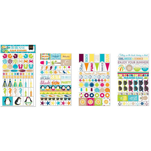 BoBunny - Make A Splash Collection - Clear Stickers
