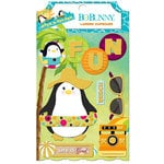 BoBunny - Make A Splash Collection - Layered Chipboard Stickers with Glitter Accents