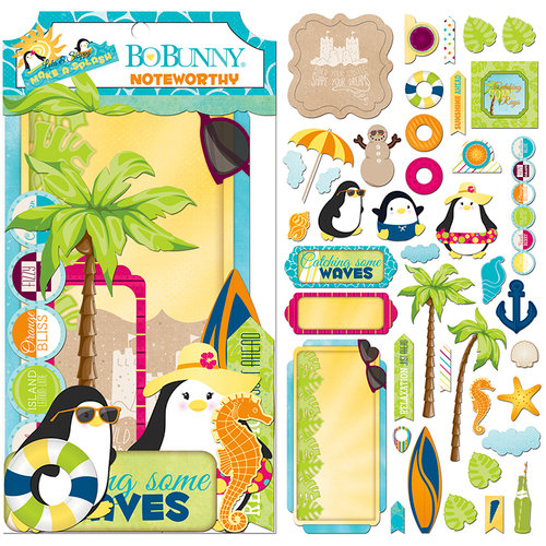 BoBunny - Make A Splash Collection - Noteworthy Journaling Cards