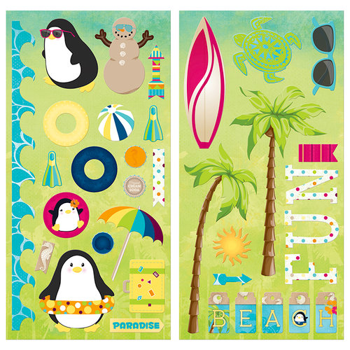 BoBunny - Make A Splash Collection - Chipboard Stickers