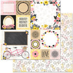 BoBunny - Petal Lane Collection - 12 x 12 Double Sided Paper - Sunshine