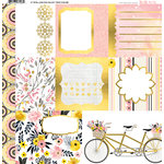 BoBunny - Petal Lane Collection - 12 x 12 Vellum Paper with Foil Accents