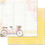 BoBunny - Petal Lane Collection - 12 x 12 Double Sided Paper - Petal Lane