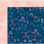 BoBunny - Down By The Sea Collection - 12 x 12 Double Sided Paper - Coral