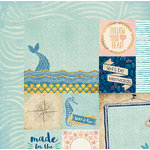 BoBunny - Down By The Sea Collection - 12 x 12 Double Sided Paper - Paradise