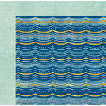 BoBunny - Down By The Sea Collection - 12 x 12 Double Sided Paper - Ripples