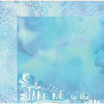 BoBunny - Down By The Sea Collection - 12 x 12 Double Sided Paper - Tide