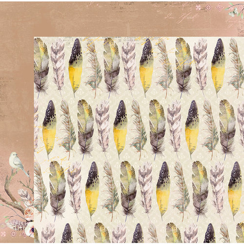 BoBunny - Serendipity Collection - 12 x 12 Double Sided Paper - Feathers